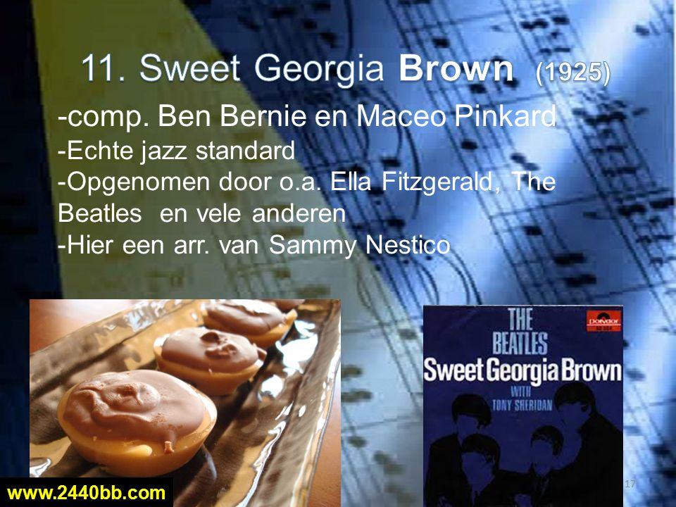 -comp. Ben Bernie en Maceo Pinkard -Echte jazz standard -Opgenomen door o.a.