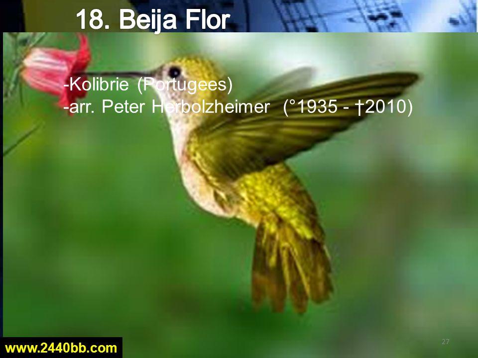 -Kolibrie (Portugees) -arr. Peter Herbolzheimer (°1935 - †2010) 27 www.2440bb.com
