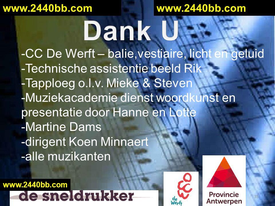 -CC De Werft – balie,vestiaire, licht en geluid -Technische assistentie beeld Rik -Tapploeg o.l.v.