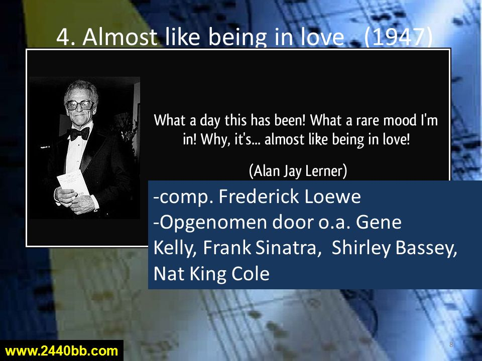 5. L.O. V. E. (1968) comp. Bert Kaempfert (°1923 †1980) 9 www.2440bb.com