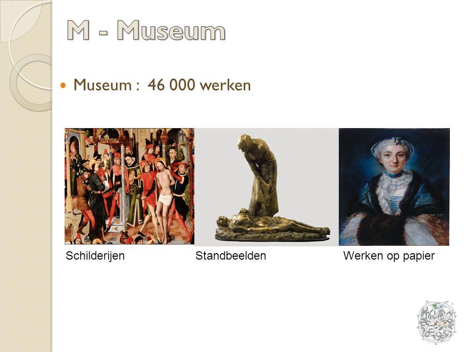 Museum : 46 000 werken SchilderijenStandbeeldenWerken op papier