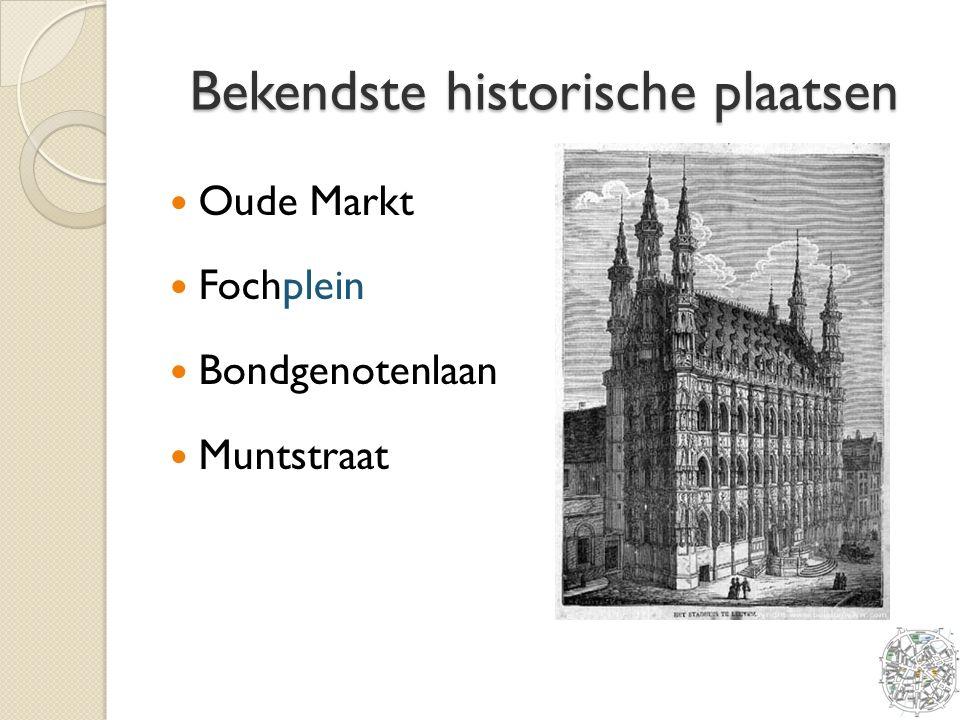 Bekendste historische plaatsen Oude Markt Fochplein Bondgenotenlaan Muntstraat