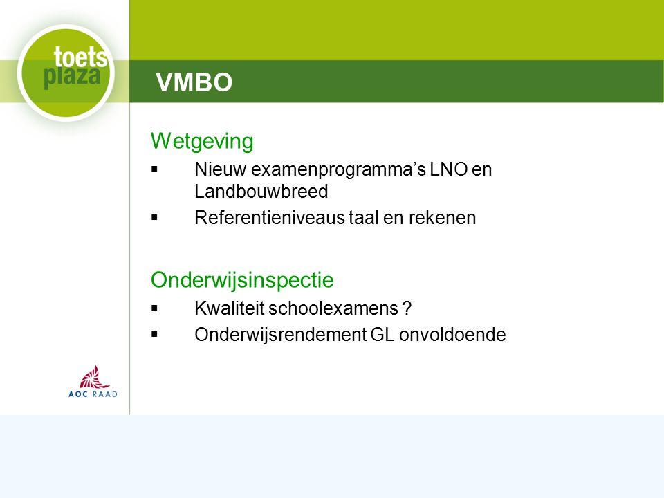Expertiseteam Toetsenbank Landelijk: Masterplan vmbo  Profilering GL  Groen Proeven  Docentennetwerk Groen i.o.