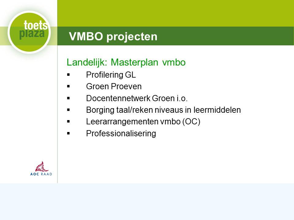 Expertiseteam Toetsenbank Wetgeving  Invoering CKS/CGO ontwikkeling  Referentieniveaus taal en rekenen Onderwijsinspectie  Kwaliteit examinering onvoldoende (Groene standaard) MBO