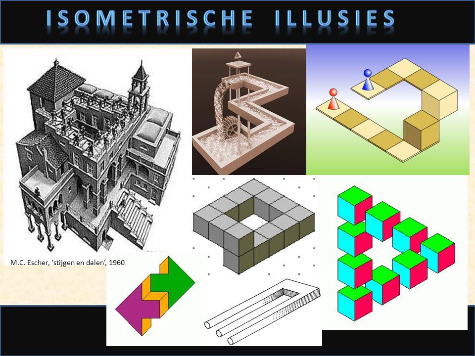 M.C. Escher, 'Waterval', 1961 M.C. Escher, 'stijgen en dalen', 1960