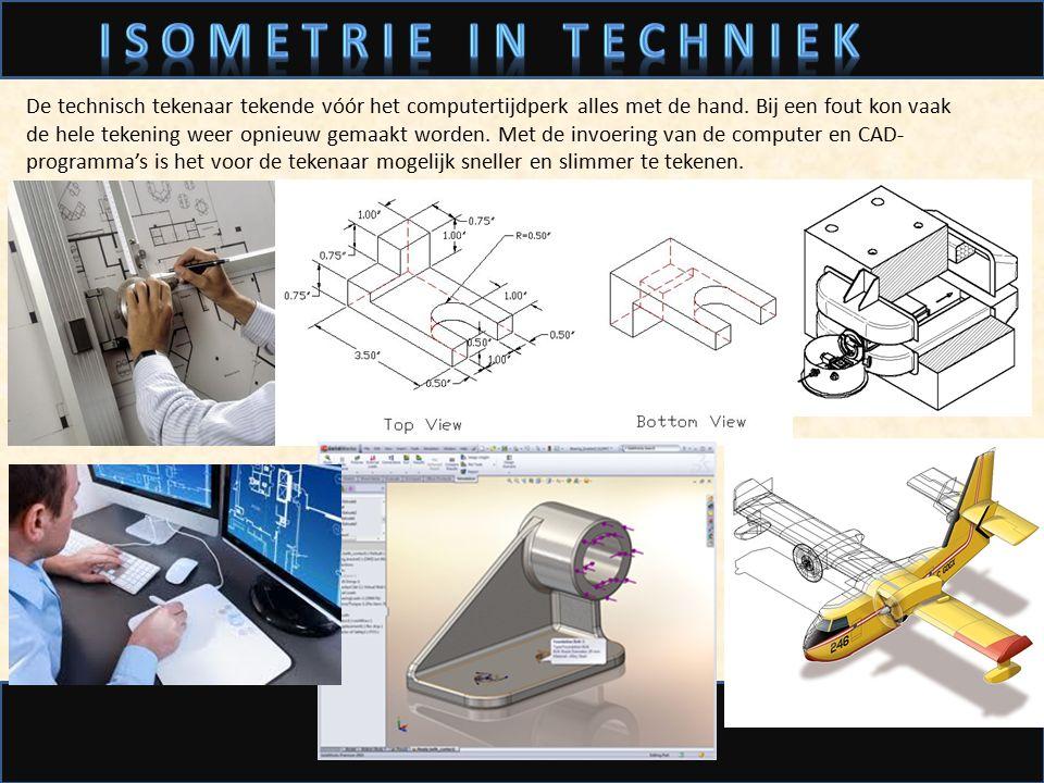 De technisch tekenaar tekende vóór het computertijdperk alles met de hand. Bij een fout kon vaak de hele tekening weer opnieuw gemaakt worden. Met de