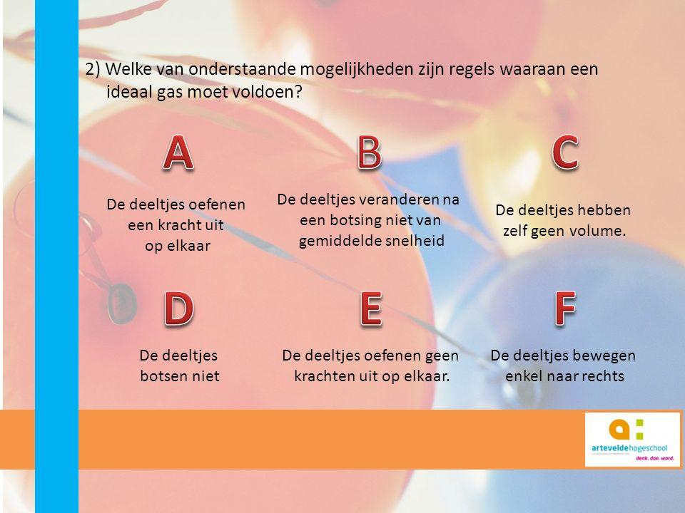 3) Wat is de betekenis van druk in het deeltjesmodel.