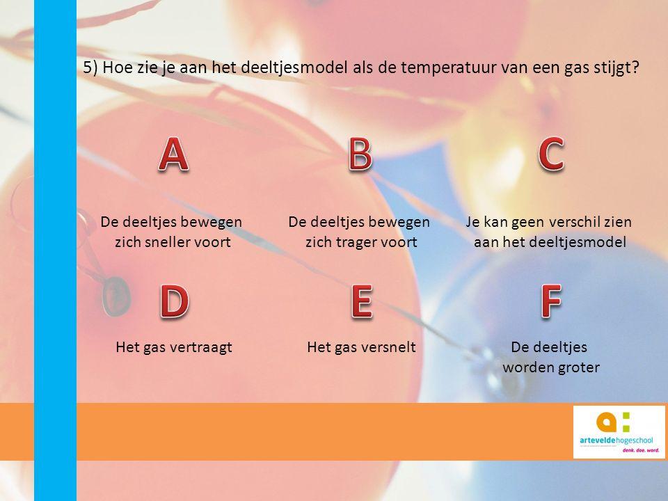 6) Kan een ideaal gas een vaste stof worden? JaNeen Enkel als je het afkoelt