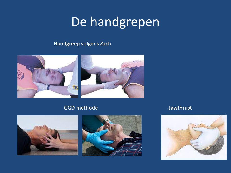 De handgrepen Handgreep volgens Zach GGD methodeJawthrust
