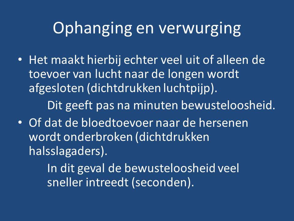 Manieren de term wurging (met de handen) verstikking door omsnoering (met touw, sjaal of dergelijke voorwerpen) verstikking door het bedekken van mond en neus met bijvoorbeeld een kussen.