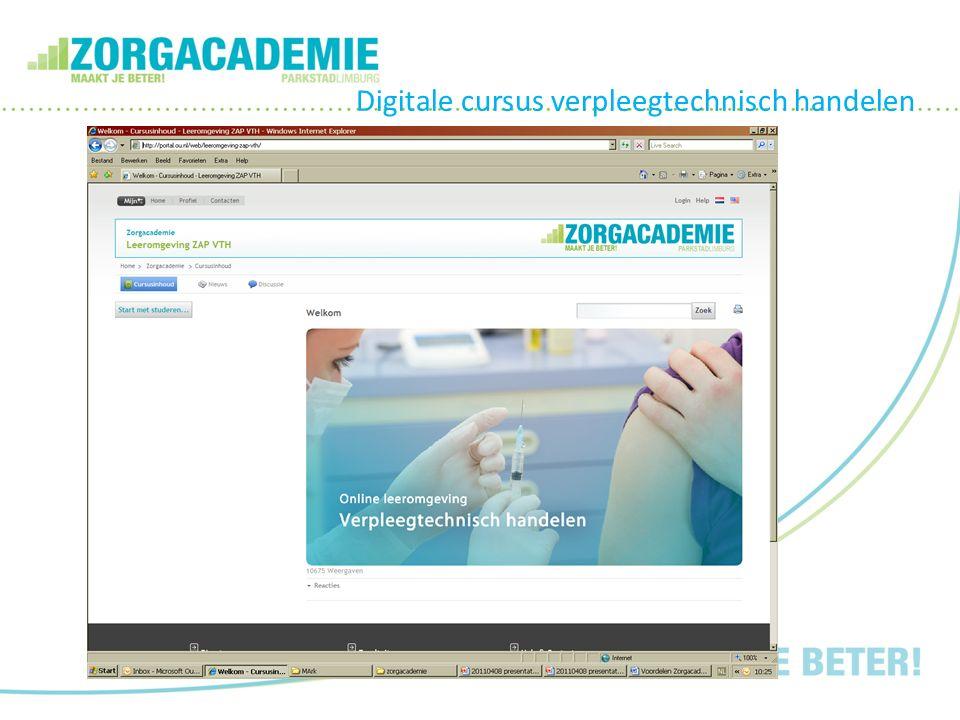Digitale cursus verpleegtechnisch handelen