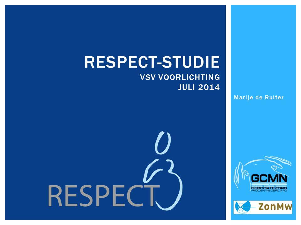 Marije de Ruiter RESPECT-STUDIE VSV VOORLICHTING JULI 2014