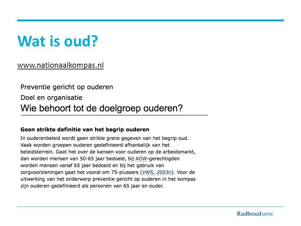 Wat is oud www.nationaalkompas.nl