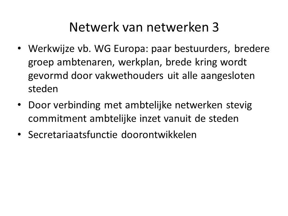 Netwerk van netwerken 3 Werkwijze vb.