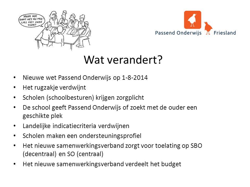 Uitgangspunten ondersteuningsplan Passend Onderwijs Friesland Alle leerlingen succesvol naar school.