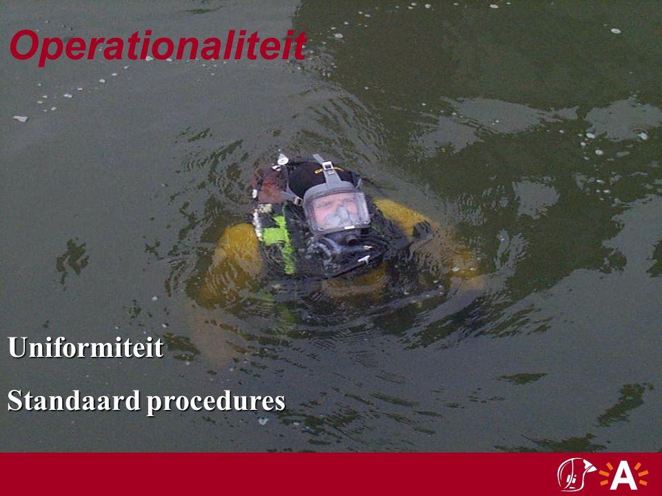 Operationaliteit  Ken uw limieten !!!!… Zij dienen telkenmale in functie van de specifieke gevaren eigen aan de interventie, de ervaring en geoefendheid van het duikteam bepaald te worden.