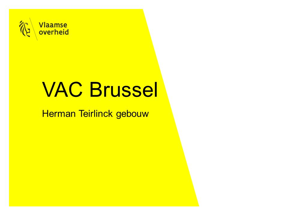 VAC Brussel Herman Teirlinck gebouw