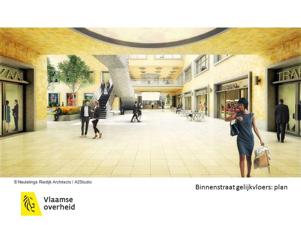 © Neutelings Riedijk Architects / A2Studio Binnenstraat gelijkvloers: plan