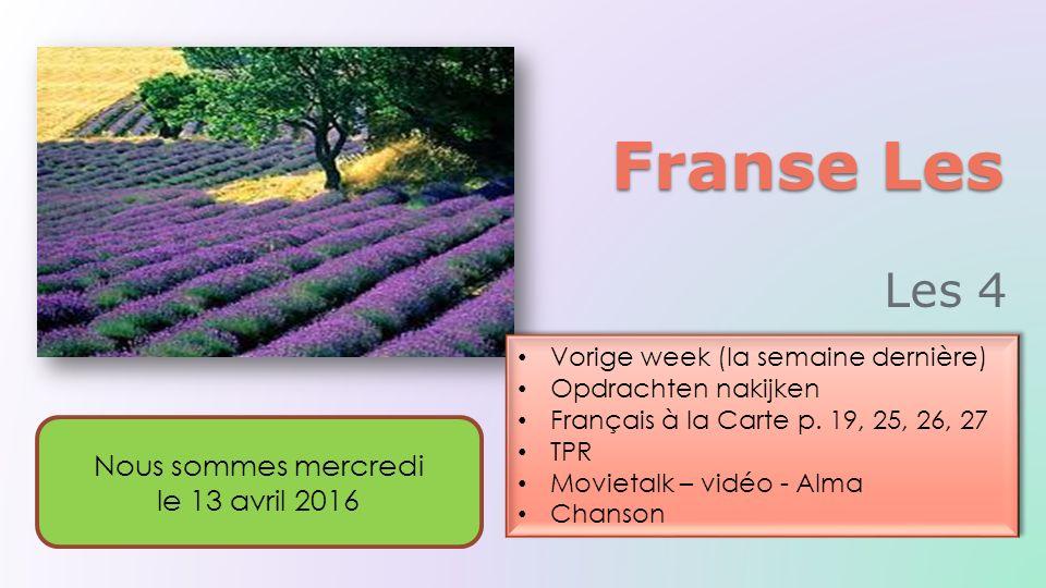 Français à la Carte p.15, 16, 17 La maison bleue III Français à la Carte p.