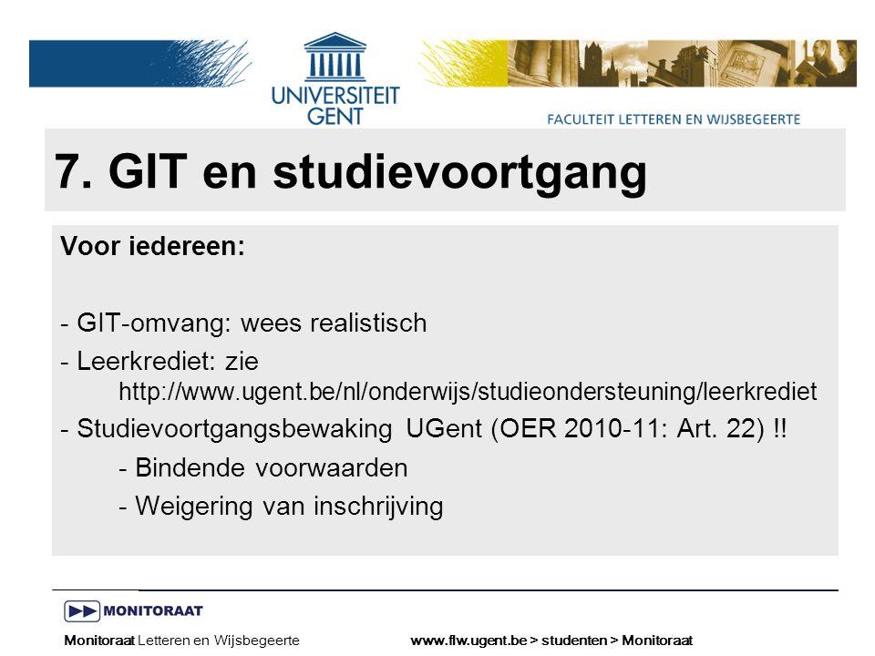 Naam presentatie – Naam maker en/of presentator - 12/09/2005 Faculteit Naam Faculteit – Dienst of Vakgroep (optioneel) 7.