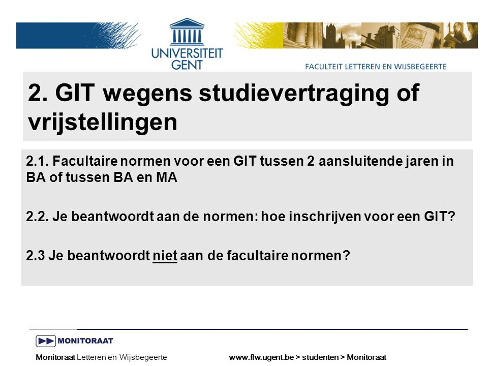 Naam presentatie – Naam maker en/of presentator - 12/09/2005 Faculteit Naam Faculteit – Dienst of Vakgroep (optioneel) 2.