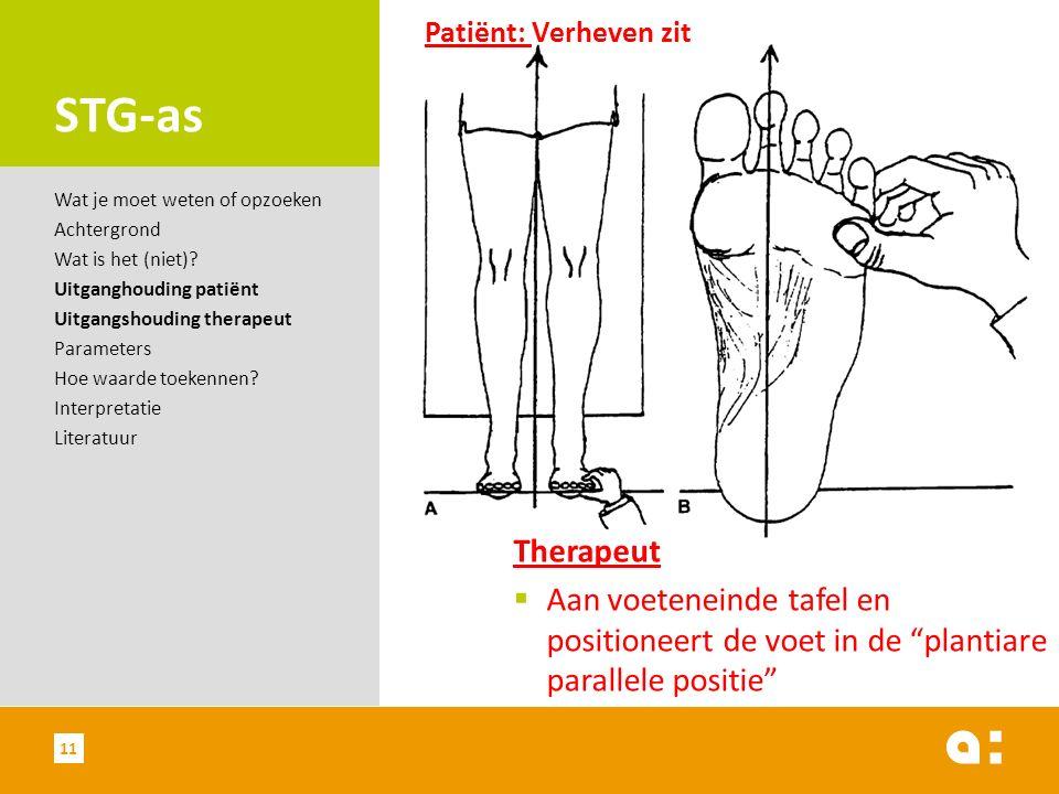 """STG-as Therapeut  Aan voeteneinde tafel en positioneert de voet in de """"plantiare parallele positie"""" Wat je moet weten of opzoeken Achtergrond Wat is"""