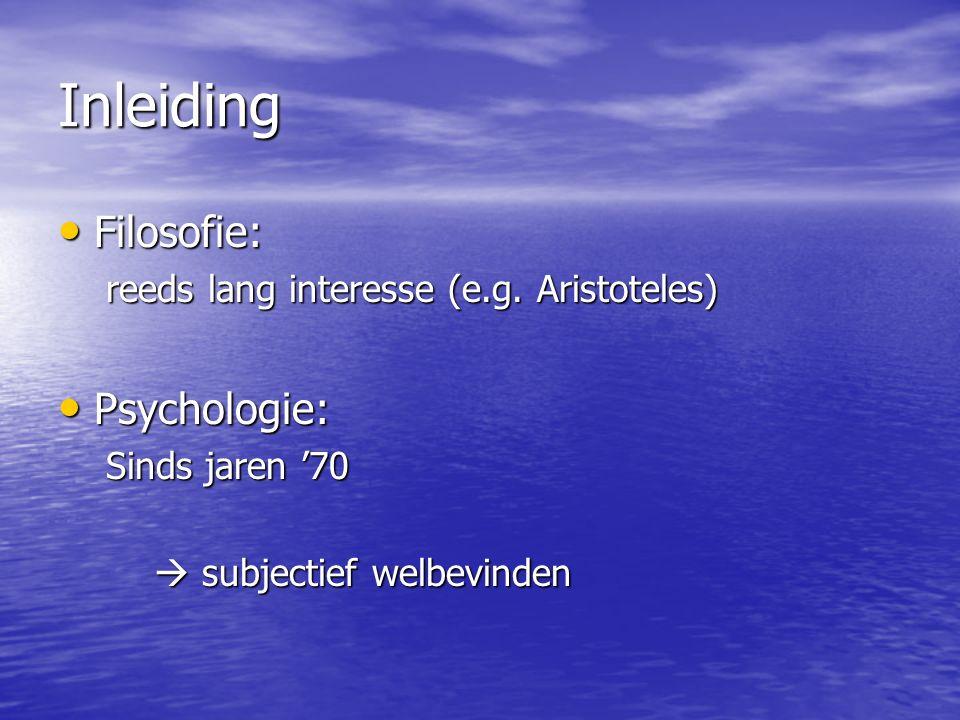 Inleiding Filosofie: Filosofie: reeds lang interesse (e.g.