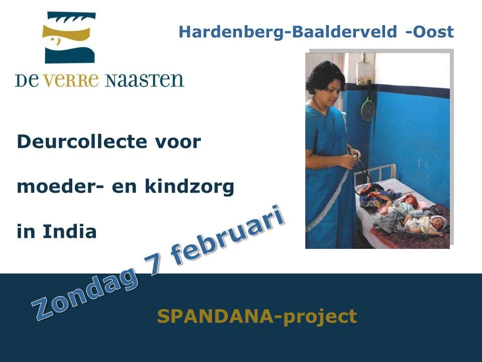 Deurcollecte voor moeder- en kindzorg in India SPANDANA-project Hardenberg-Baalderveld -Oost