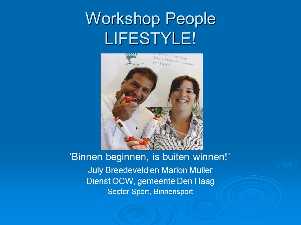 Workshop People LIFESTYLE.