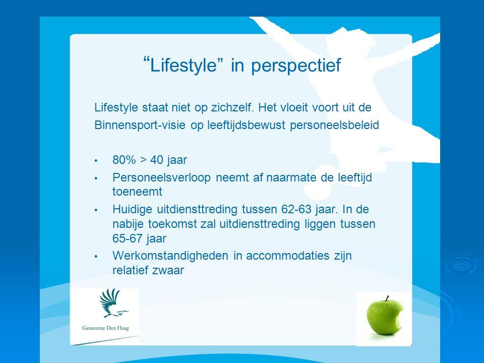 Lifestyle in perspectief Lifestyle staat niet op zichzelf.