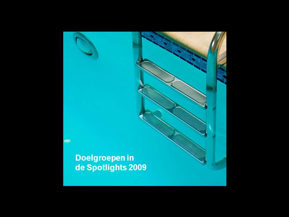 Doelgroepen in de Spotlights 2009