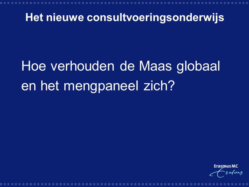Het nieuwe consultvoeringsonderwijs Hoe verhouden de Maas globaal en het mengpaneel zich?