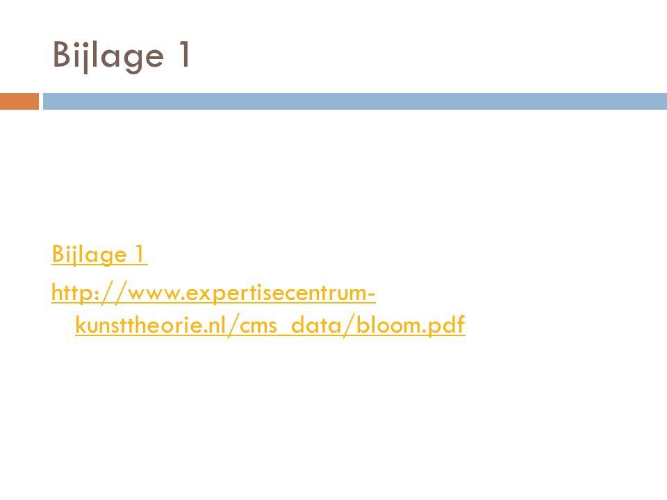 Bijlage 1 http://www.expertisecentrum- kunsttheorie.nl/cms_data/bloom.pdf