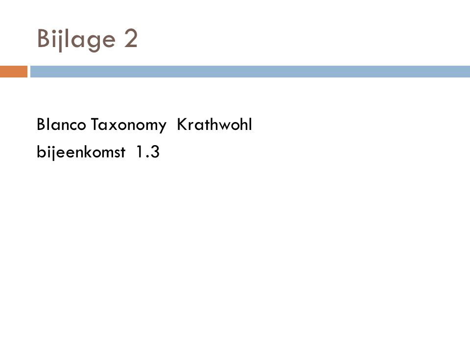 Bijlage 2 Blanco Taxonomy Krathwohl bijeenkomst 1.3