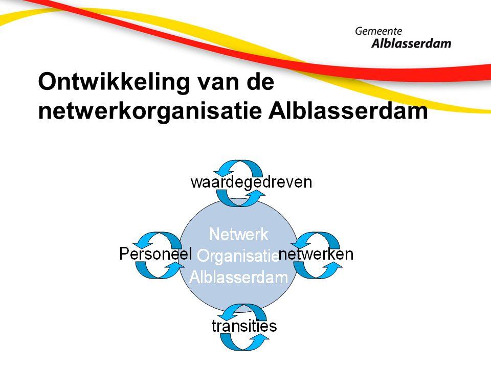 Ontwikkeling van de netwerkorganisatie Alblasserdam