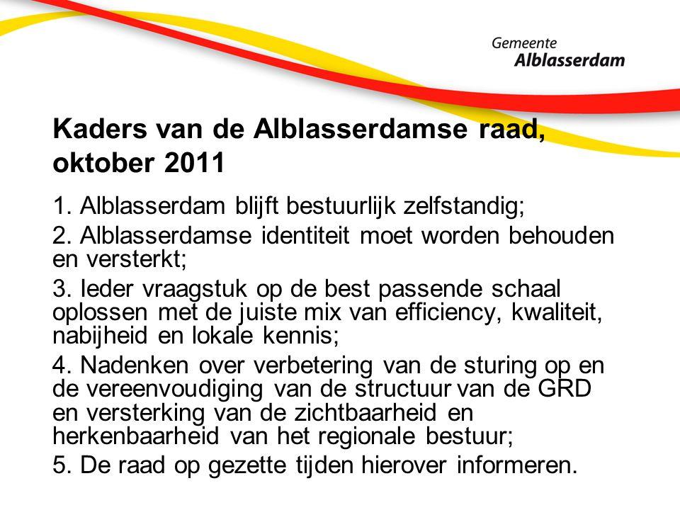 Kaders van de Alblasserdamse raad, oktober 2011 1.