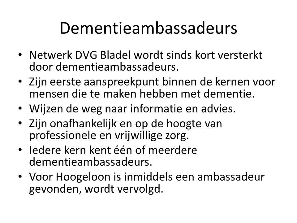 Dementieambassadeurs Netwerk DVG Bladel wordt sinds kort versterkt door dementieambassadeurs. Zijn eerste aanspreekpunt binnen de kernen voor mensen d