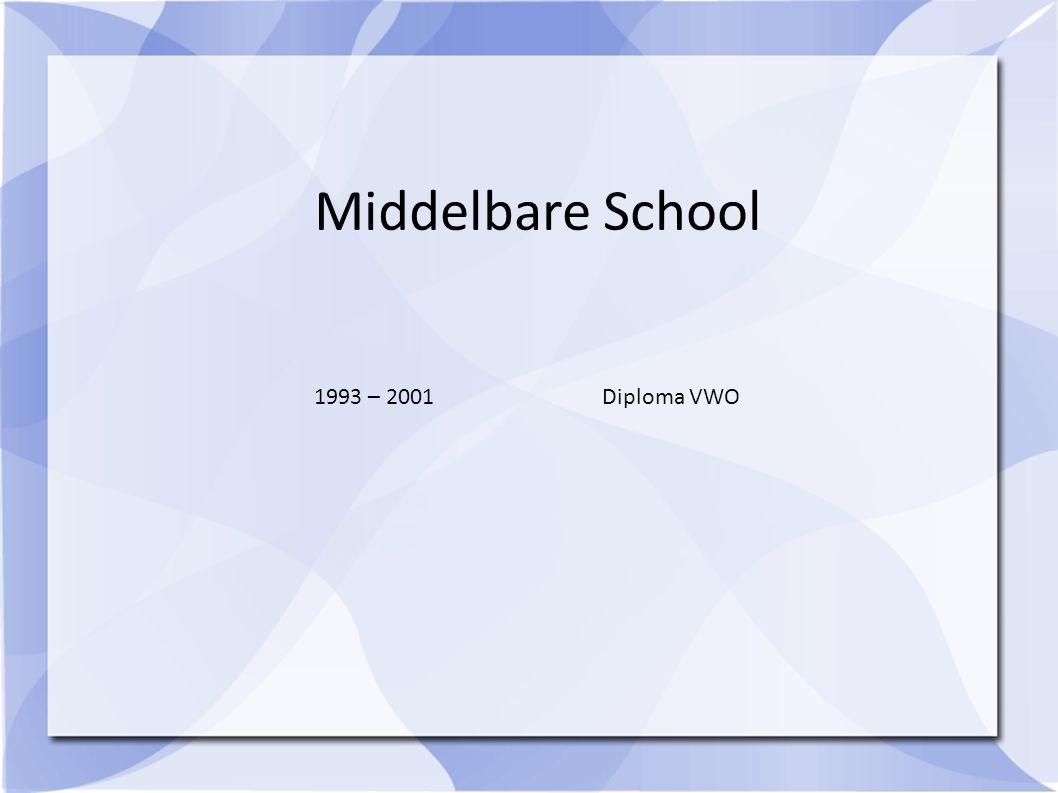 1993 – 2001Diploma VWO Middelbare School