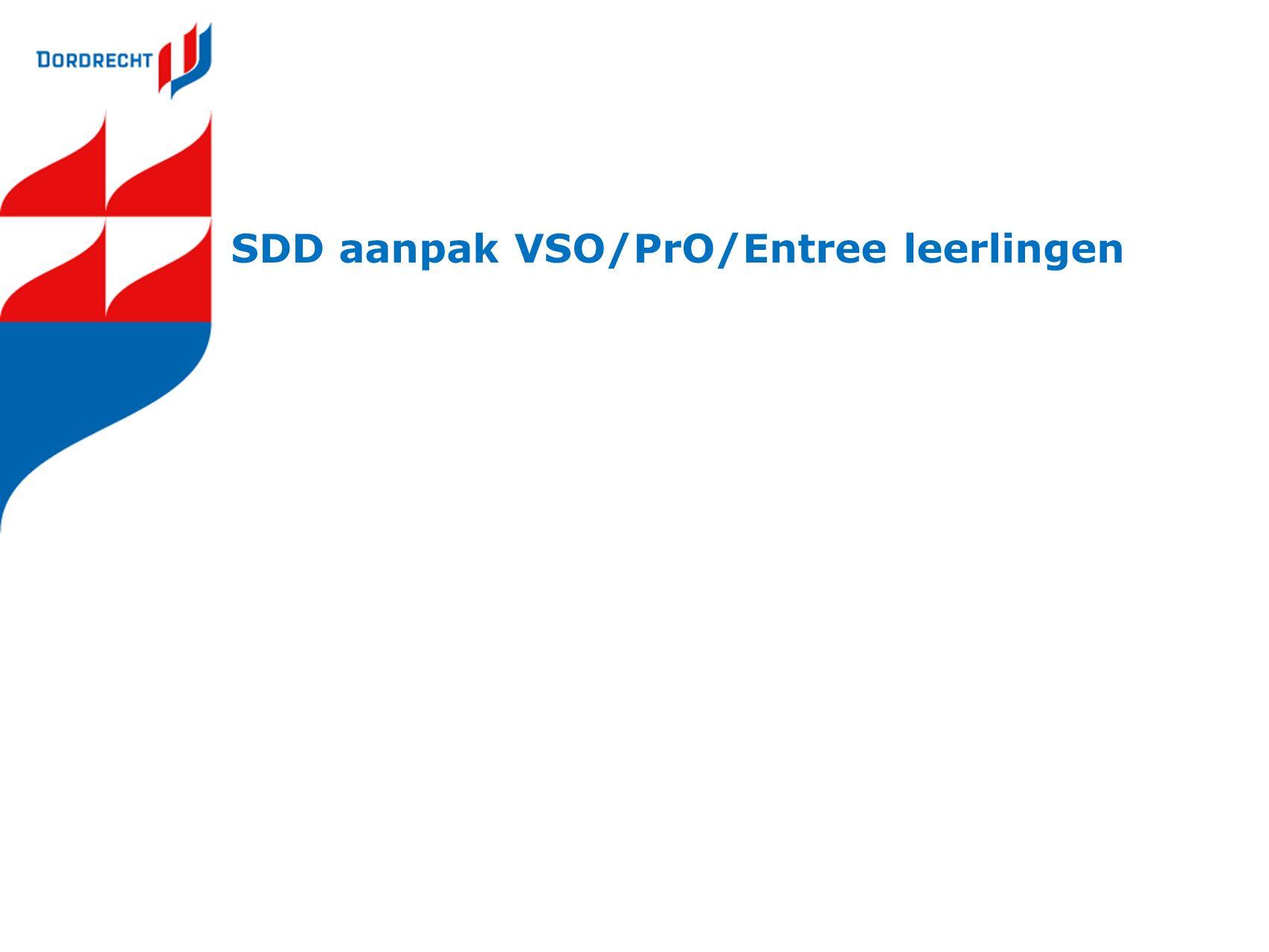 SDD aanpak VSO/PrO/Entree leerlingen