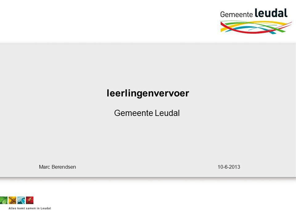leerlingenvervoer Gemeente Leudal Marc Berendsen 10-6-2013