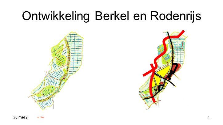 30 mei 20165 Titel Hoofdwegenstructuurplan B&R –Regionale ring om Berkel & Rodenrijs –2 interne 50 km/h ringen –Centrumring –Knip Noordeindseweg –knip Sterrenweg –Knip Herenstraat: Optimalisatie ontwikkeling centrum