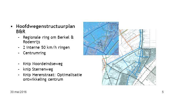 30 mei 201616 Uitkomsten burgerpanel (2) Verkeersveiligheid Positief : –Noordeindseweg en Rodenrijseweg Negatief: overgrote meerderheid reacties –Centrum Berkel: (vracht-)auto's moeten keren voor de afsluiting Verkeer Nieuwstraat Ook: Wilhelminastraat, kruispunt Rodenrijseweg – Gemeentewerf (!) –Omgeving: Negatief: meer en harder rijdend verkeer in 30 km/h straten