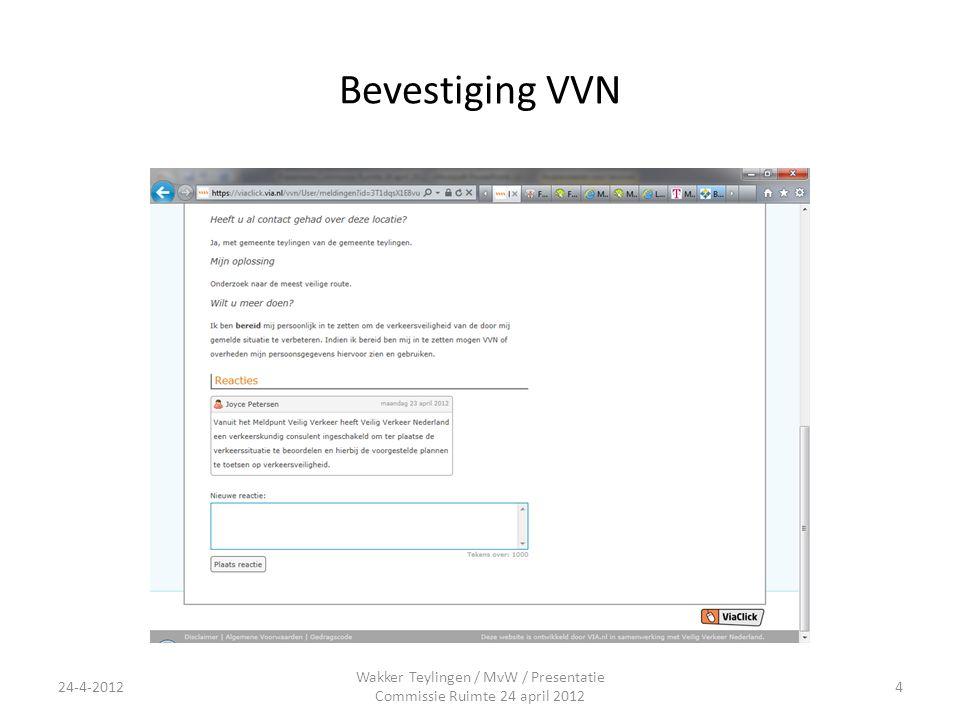Bevestiging VVN Wakker Teylingen / MvW / Presentatie Commissie Ruimte 24 april 2012 24-4-20124