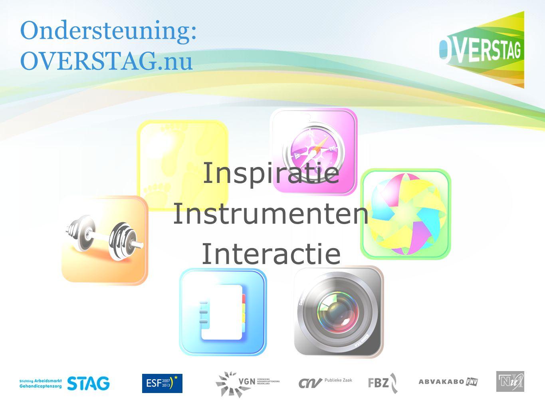 Ondersteuning: OVERSTAG.nu Inspiratie Instrumenten Interactie