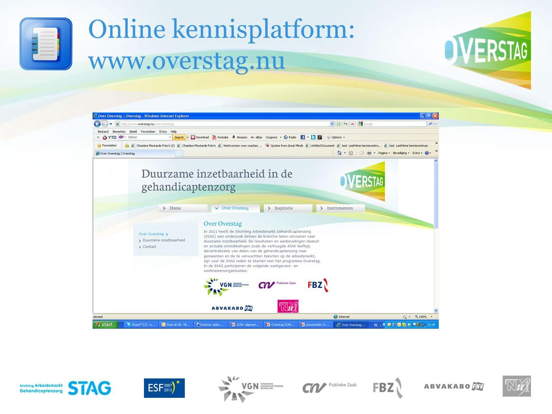 Online kennisplatform: www.overstag.nu