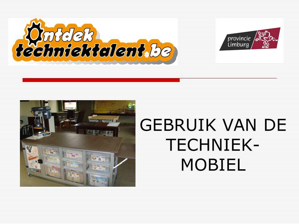 GEBRUIK VAN DE TECHNIEK- MOBIEL