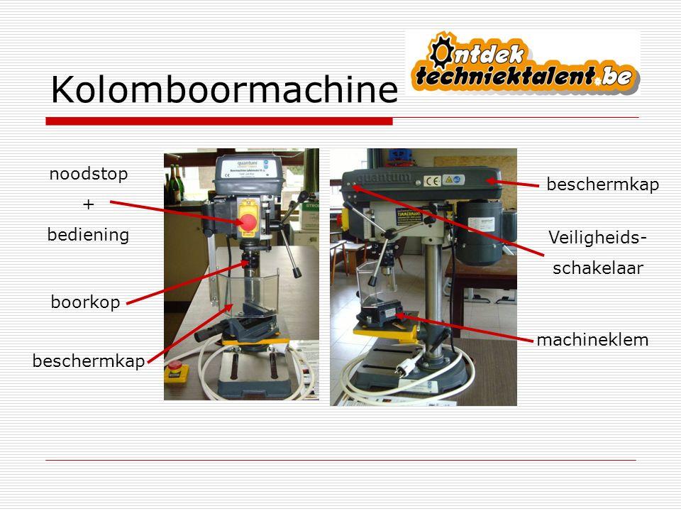 Kolomboormachine noodstop + bediening beschermkap machineklem boorkop beschermkap Veiligheids- schakelaar
