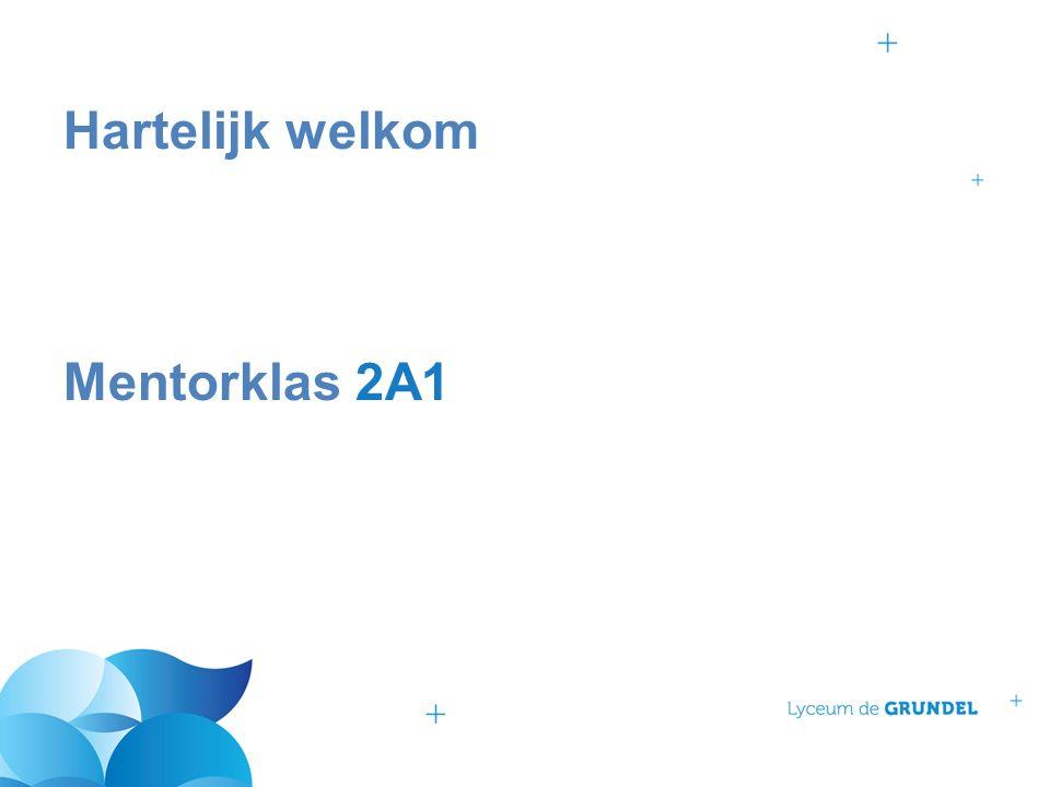 Hartelijk welkom Mentorklas 2A1