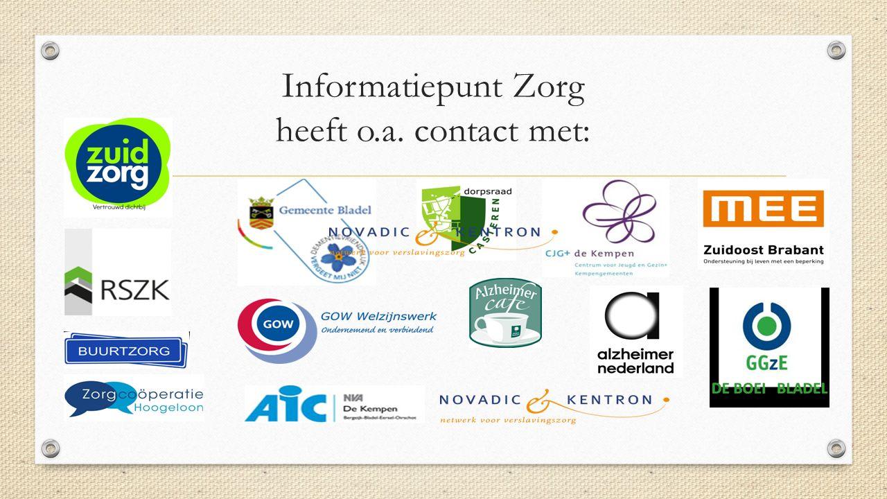 Informatiepunt Zorg heeft o.a. contact met: