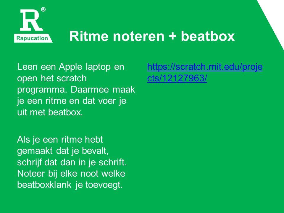 Tempo + beatbox Je kan in alle tempo's beatboxen.Probeer uit wat jouw favoriete tempo is.